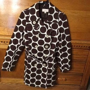 Merona Trench Coat Polka Dot Belted